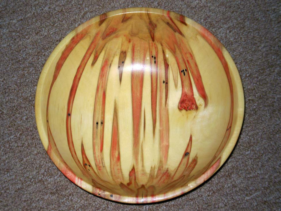box Elder: 4.75 in. deep, 13 in. Diam.spectacular colors made by B.E beetle